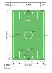 Dimensiones de campo de Fútbol
