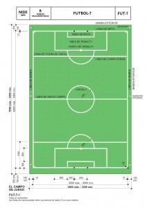 Dimensiones de campo de Fútbol 7