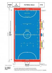 Dimensiones de pista de fútbol sala