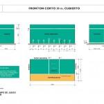 Dimensiones de pista de frontenis (frontón)