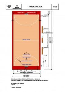 Dimensiones de pista de Hockey sala