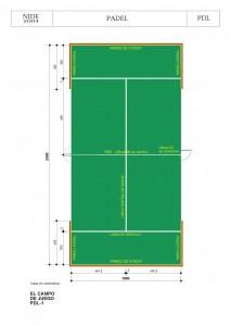 Dimensiones de pista de pádel