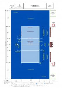 Dimensiones de pista de voleibol