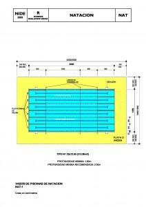 Dimensiones de piscina de natación