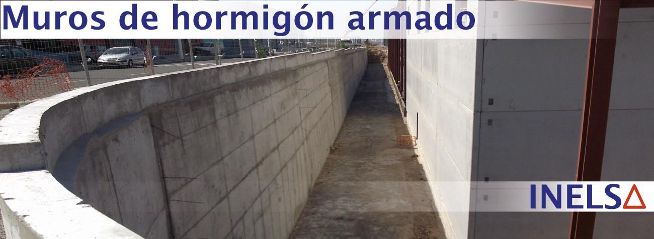 Empresa constructora de muros de hormigón armado cerramientos en Alicante