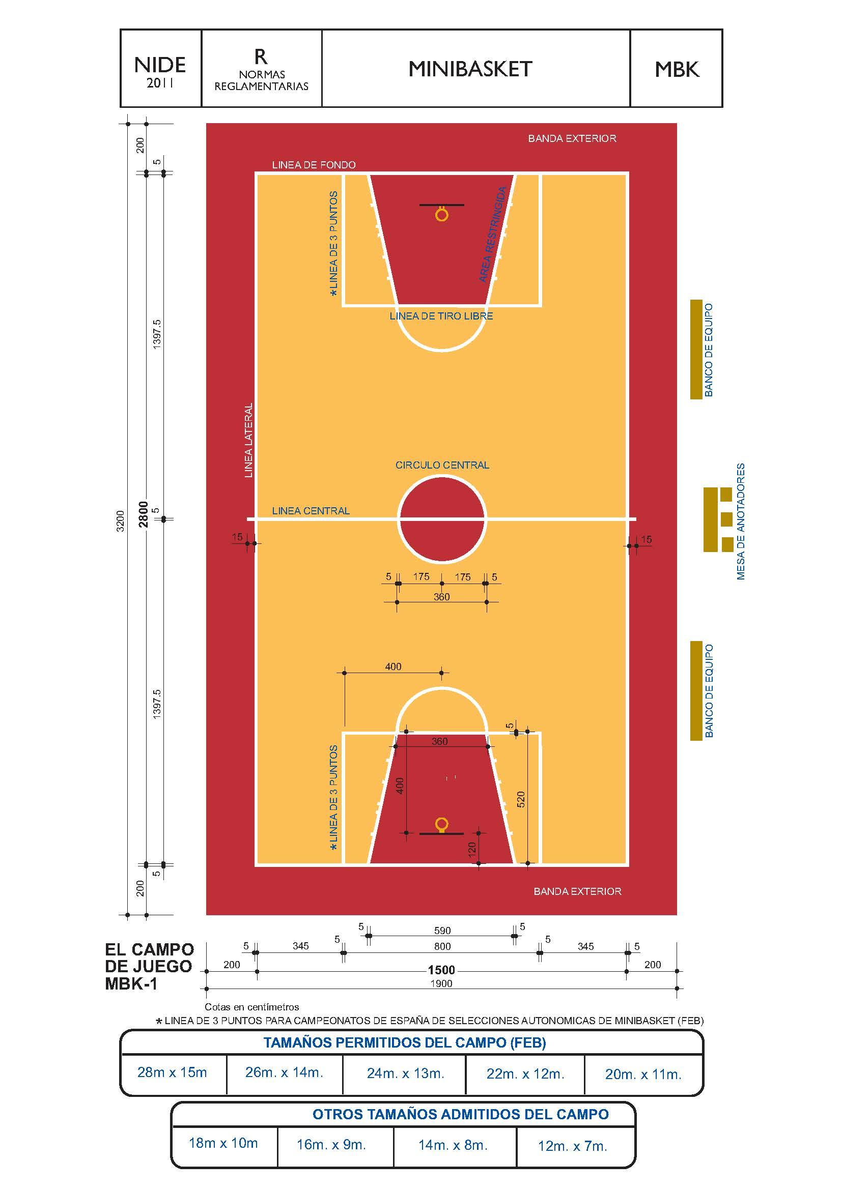 construcción pista deportiva mini basket