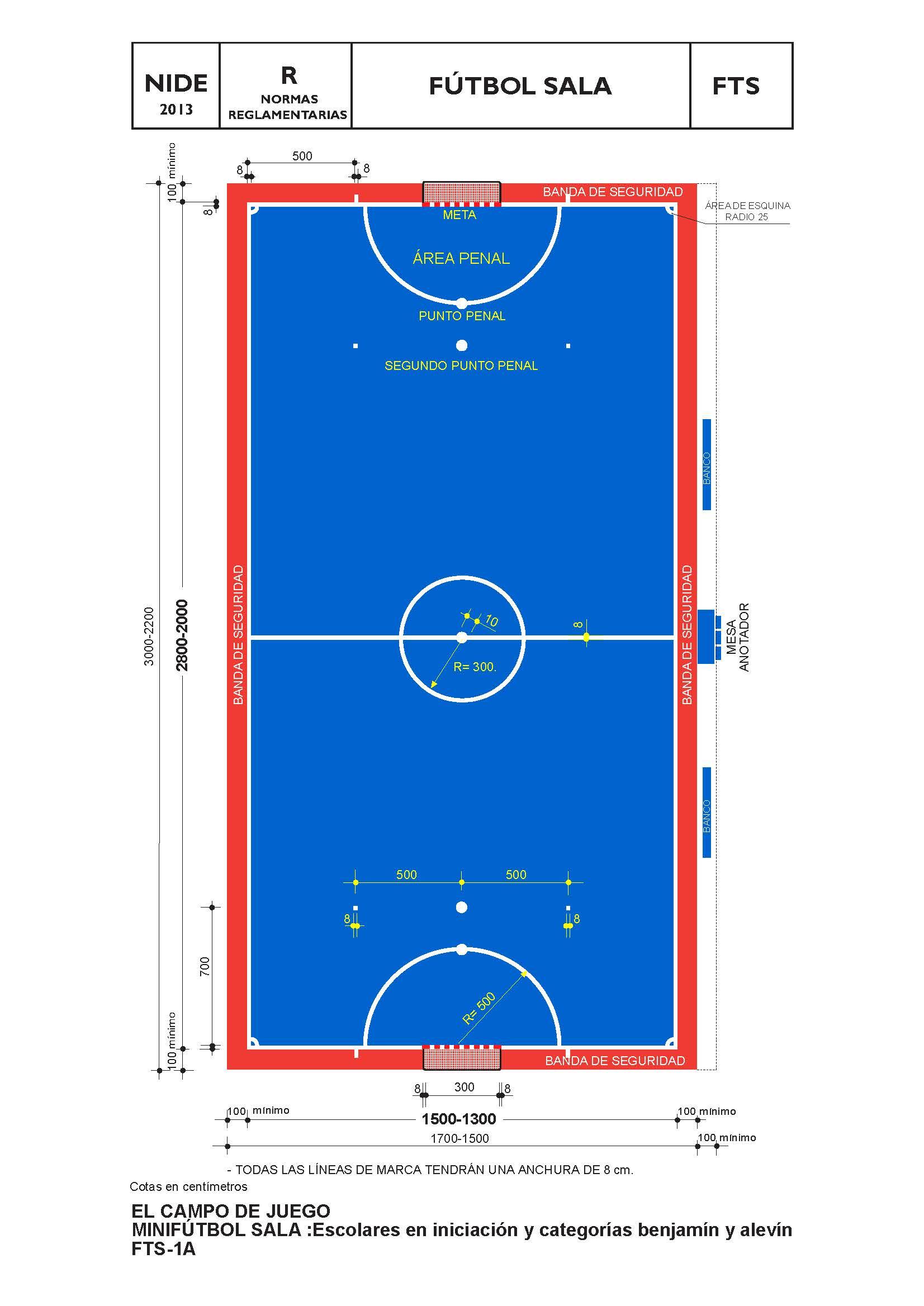 construcción pista deportiva mini futbol sala